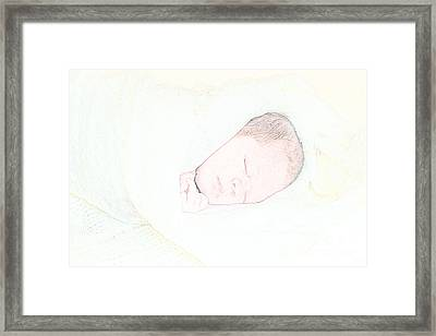 Baby Face Framed Print