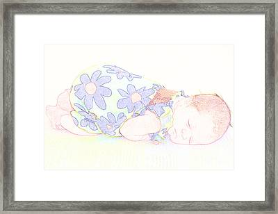 New Photographic Art Print For Sale Baby Girl Framed Print