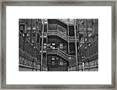 New Photographic Art Print For Sale Bradbury Building Downtown La Framed Print