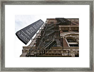 New Photographic Art Print For Sale Downtown Los Angeles Framed Print by Toula Mavridou-Messer