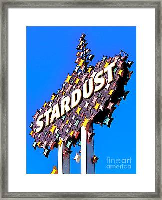 Original Stardust Casino Neon In Las Vegas Pop Art Framed Print