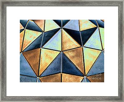 Pop Art Abstract Art Geometric Shapes Framed Print