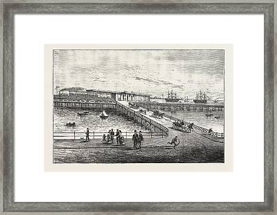 New Pier And Railway Station, For Portsmouth Harbour Framed Print