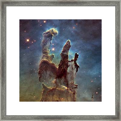New Pillars Of Creation Hd Square Framed Print by Adam Romanowicz