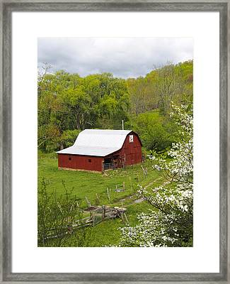 New Red Paint 2 Framed Print by Mike McGlothlen