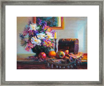 Framed Print featuring the painting New Reflections by Talya Johnson