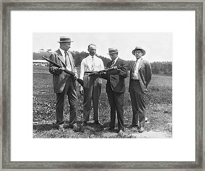 New Rifles For The Army Framed Print by Underwood Archives