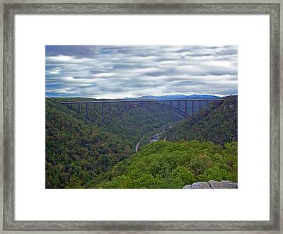 New River Bridge Framed Print by Aimee L Maher Photography and Art Visit ALMGallerydotcom