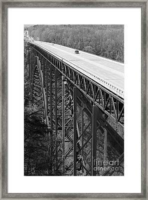 New River Gorge Bridge Bw Framed Print