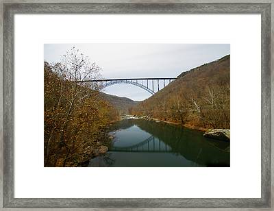 New River Gorge Bridge By Moonlight Framed Print by Timothy Connard