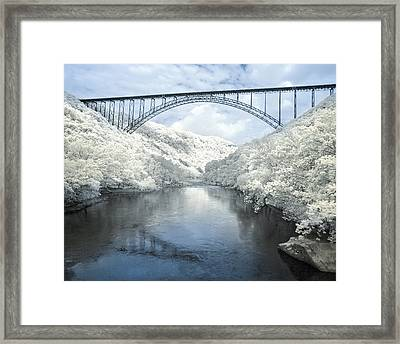 New River Gorge Bridge In Infrared Framed Print
