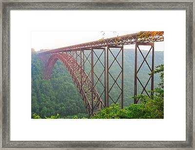 Framed Print featuring the photograph New River Gorge Bridge   by Lars Lentz