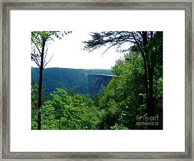 New River Gorge Framed Print by Deborah DeLaBarre