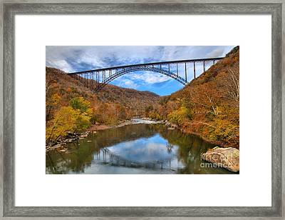 New River Gorge Reflections Framed Print by Adam Jewell