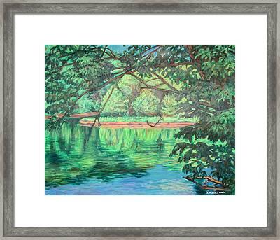 New River Reflections Framed Print by Kendall Kessler