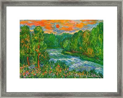 New River Rush Framed Print