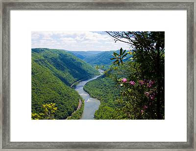 New River View Framed Print