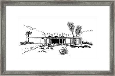 New Riviera Gardens-steel House Framed Print by Robert Cullison