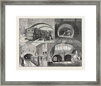 New Route To Brighton, Via The East London Railway Framed Print