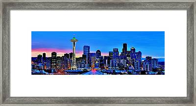 New Seattle Day Framed Print
