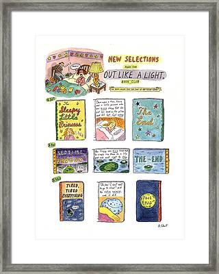 New Selections From The Out Like A Light� Book Framed Print
