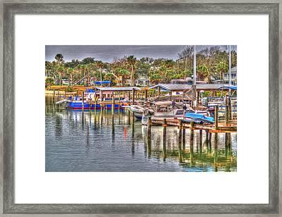 New Smyrna Marina Framed Print