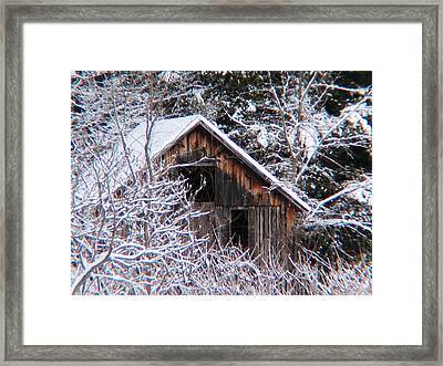 New Snow Old Barn Framed Print by Will Boutin Photos
