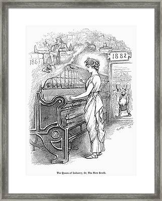 New South Cartoon, 1882 Framed Print