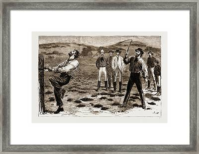 New South Wales, Australia, 1883 Summary Justice Framed Print by Litz Collection