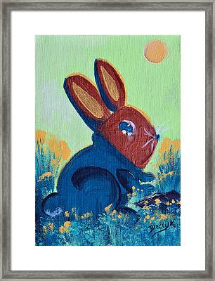 New Spring Sweater Framed Print by Donna Blackhall
