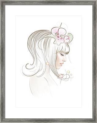 Framed Print featuring the drawing New Star by Anna Ewa Miarczynska
