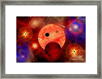 New Star Formation In A Vast Gaseous Framed Print by Stocktrek Images