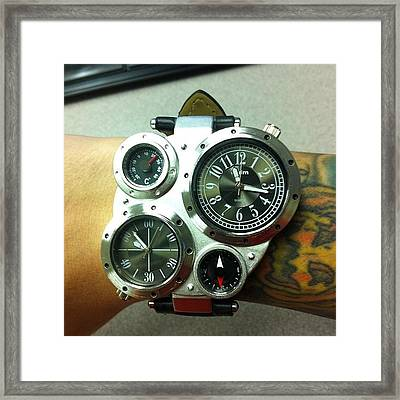 New #steampunk Watch Has Arrived! Framed Print by Brian Lapsley