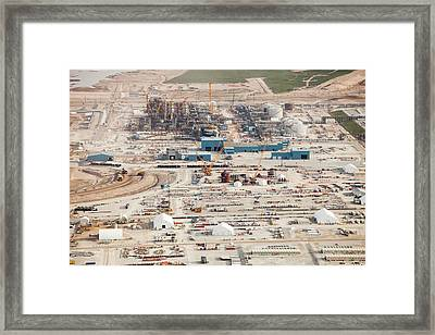 New Tar Sands Plant Being Constructed Framed Print by Ashley Cooper