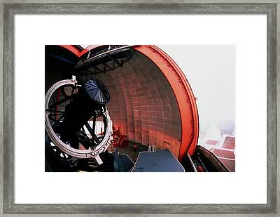 New Technology Telescope At La Silla Framed Print by David Parker/science Photo Library