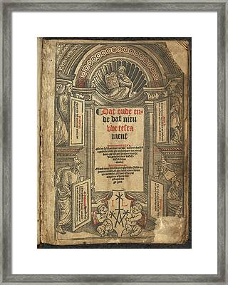 New Testament Title Page Framed Print by British Library