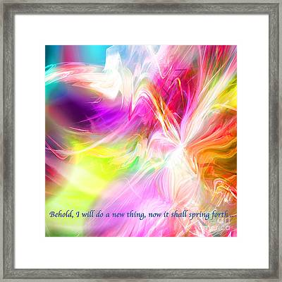 Framed Print featuring the digital art New Thing by Margie Chapman