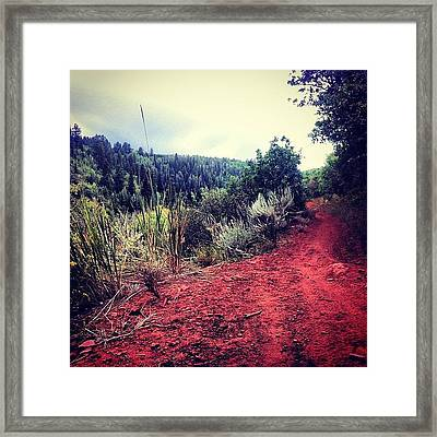 New-to-me #trail And Now I Know Another Framed Print