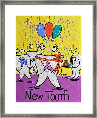New Tooth Framed Print by Anthony Falbo