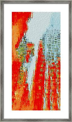 New Town Framed Print by Jack Zulli