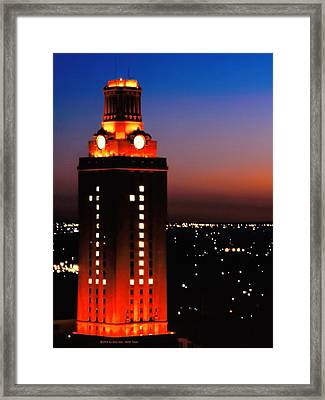 New Version Of The Ut Tower Framed Print by Gary Dow