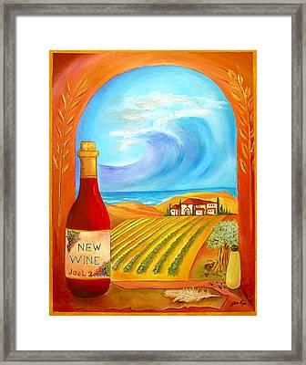 New Wine  Joel 2 Framed Print