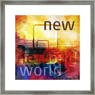 New World Framed Print by Lutz Baar
