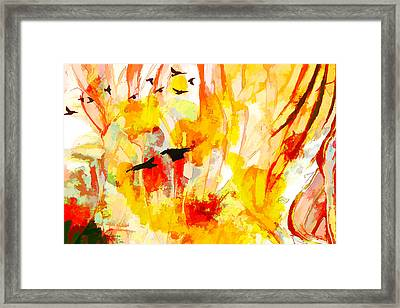 Framed Print featuring the painting New World by Ron Richard Baviello