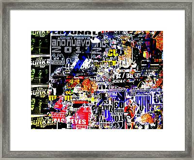 New Year Ads On Santiago Walls In Chile Framed Print by Funkpix Photo Hunter