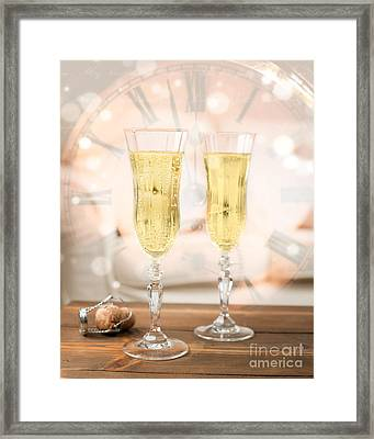 New Year Celebration Framed Print by Amanda Elwell