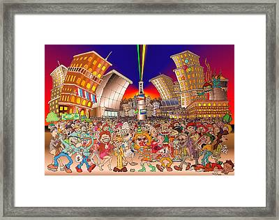 New Year City Framed Print