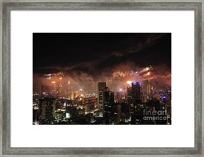 New Year Fireworks Framed Print