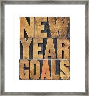 New Year Goals Framed Print