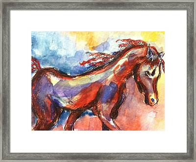 New Year Horse Framed Print